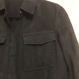 Theory semi-sheer blouse